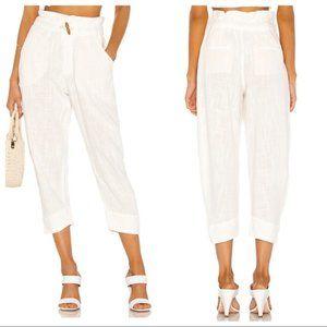 Free People Paradise Pant Trousers Cotton Linen S